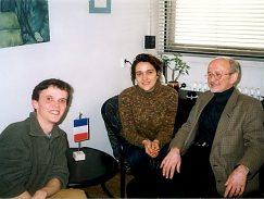 Prijatie francúzskych študentov prodekanom pre medzinárodné vzťahy FF UMB v roku 1999