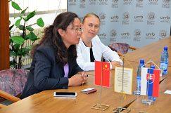 Pani Dong Tian predstavila jej univerzitu