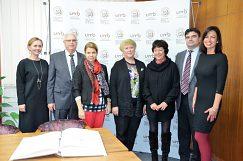 Návšteva delegácie z Bieloruskej štátnej univerzity na pôde UMB
