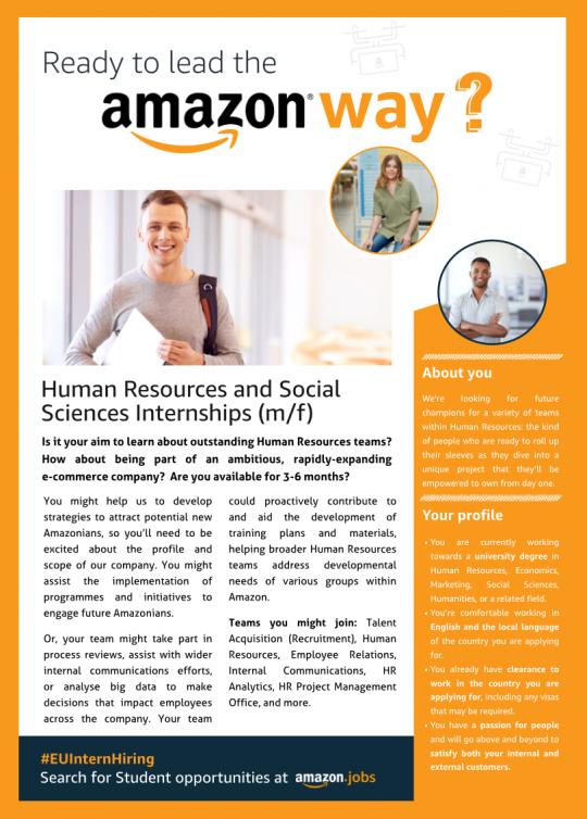 Human Resources and Social Sciences Internships