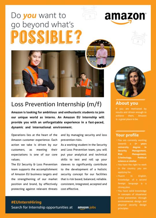 Loss Prevention Internship