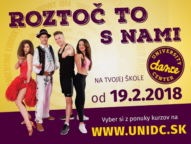 Tanečné kurzy University Dance Center v letnom semestri
