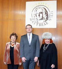 Rektor UMB s prof. Lysakovou a prof. Kollárovou