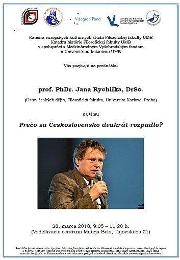 Prednáška prof. PhDr. Jana Rychlíka, DrSc.