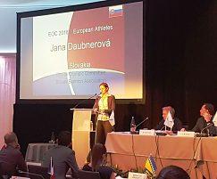Jana Daubnerová v komisii športovcov EOV