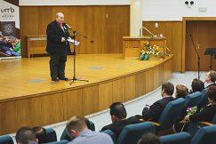 Mgr. Pavel Hlásnik, 1. podpredseda Demokratického zväzu Slovákov a Čechov v Rumunsku a podpredseda Svetového združenia Slovákov v zahraničí