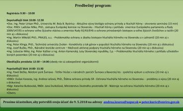 Pozvánka na odborný seminár