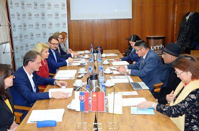 Prijatie čínskej delegácie
