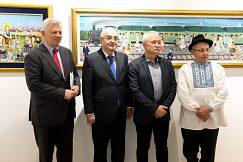Výstavu otvorili J.E. Momčilo Babić, guvernér NBS Jozef Makúch, Pavel Babka a Pavel Baláž