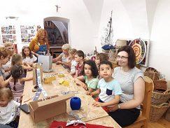 V DĽR s deťmi pracovala Magduška Slivková.