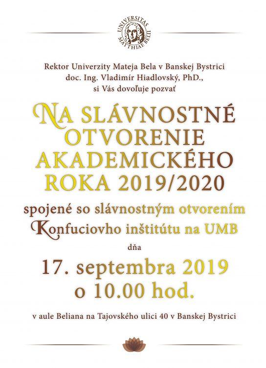 Slávnostné otvorenie AR 2019/2020