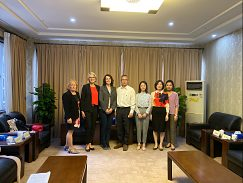 Pracovné stretnutie na pôde Ningbo City College of Vocational Technology