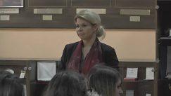 Pani prorektorka počas príhovoru ku študentom z krajanského prostredia