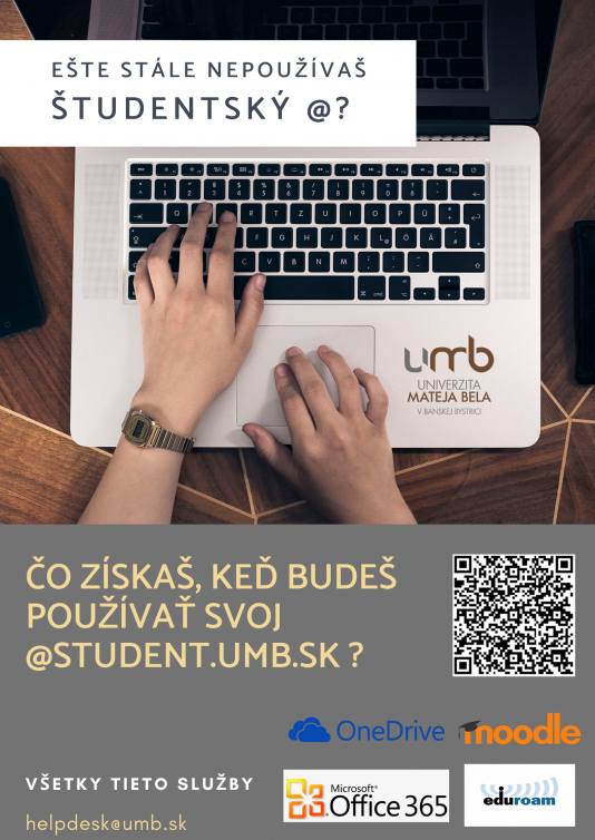 Ešte stále nepoužívaš študentský @?
