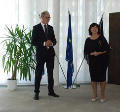 Veľvyslanec Spolkovej republiky Nemecka na Slovensku J. E. Joachim Bleicker a PhDr. Nadežda Zemaníková, PhD.