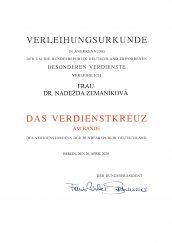 Diplom Verdienstkreuz