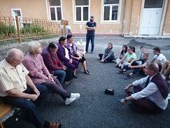 stretnutie generácií na školskom dvore, výskum viedol Mgr.art.M.Urban,PhD_