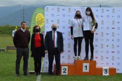 1. miesto Kristína Kovalčíková - ľukostrelba