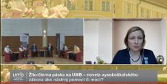 Žlto-čierna páska na UMB – novela vysokoškolského zákona ako nástroj pomoci či moci?