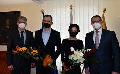 Rektor prijal novovymenované profesorky a profesorov UMB