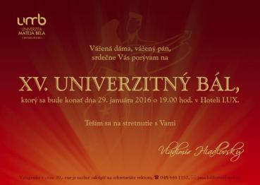XV. Univerzitný bál