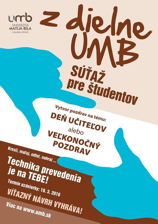 Z dielne UMB - SÚŤAŽ pre študentov