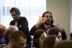 Diskutuje vedúci Katedry histórie FF Dr. Rastislav Kožiak...