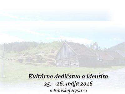 Kultúrne dedičstvo a identita