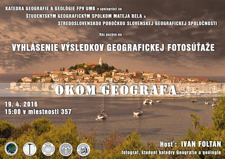 Vyhlásenie výsledkov geografickej súťaže OKOM GEOGRAFA
