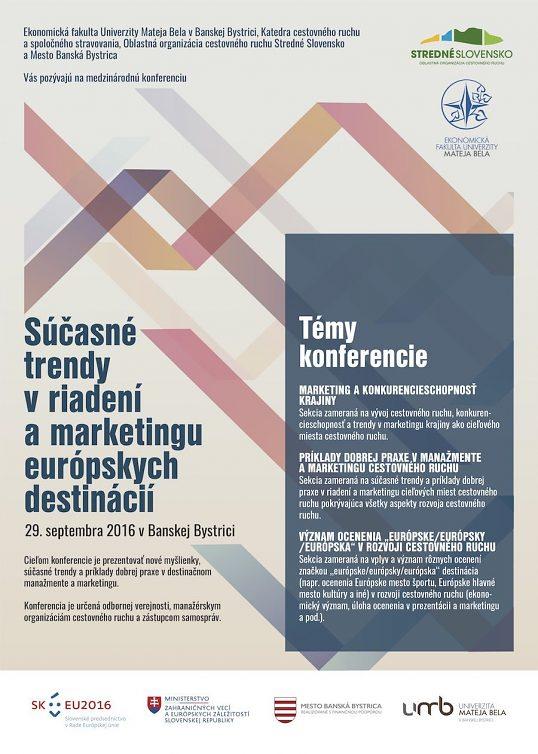 Súčasné trendy v riadení a marketingu európskych destinácií