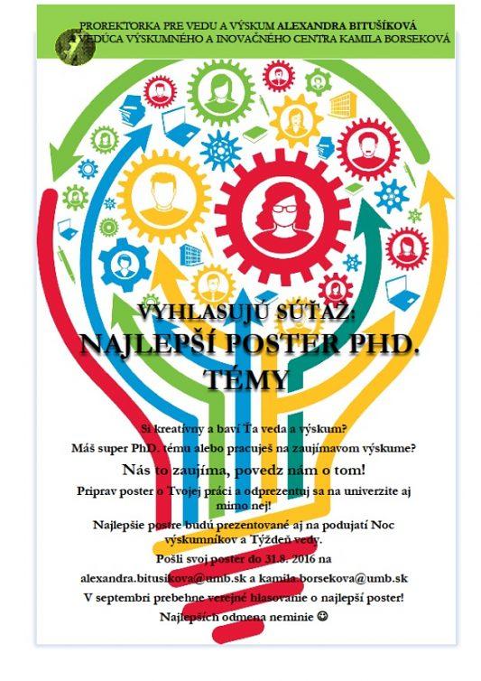 Hlasuj o najlepší poster PhD. témy