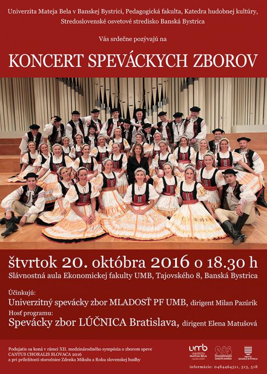 Koncert speváckych zborov