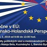 Spoločne v EÚ: Slovensko – holandská perspektíva