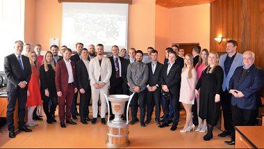 Vedenie UMB prijalo majstrov EUHL - UMB Hockey Team