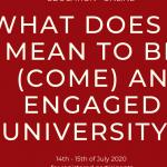 On-line  konferencia Čo znamená byť angažovanou univerzitou?