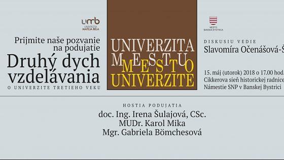 Univerzita mestu – mesto univerzite: Druhý dych vzdelávania
