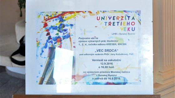 Výstava študentských prác UTV na radnici