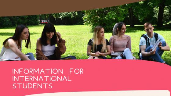 Informácie pre zahraničných študentov súvisiace s nástupom na štúdium v AR 2021/2022/ Information for international students