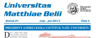 Spravodajca UMB 5/2015 (máj - jún)