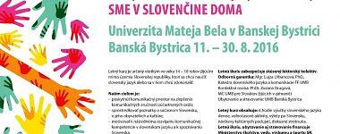 Letný kurz slovenského jazyka a kultúry Sme v slovenčine doma