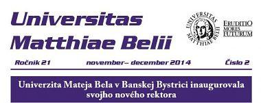 Spravodajca UMB 2/2014 (november-december)
