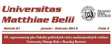 Spravodajca UMB 3/2015 (január-február)