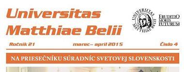 Spravodajca UMB 4/2015 (marec-apríl)