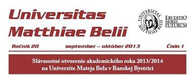 Spravodajca UMB 1/2013 (september-október)