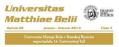 Spravodajca UMB 3/2014 (január-február)