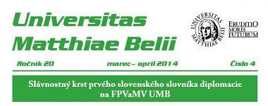 Spravodajca UMB 4/2014 (marec-apríl)