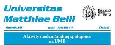 Spravodajca UMB 5/2014 (máj-jún)