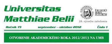 Spravodajca UMB 1/2012 (september-október)