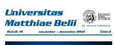Spravodajca UMB 2/2012 (november-december)