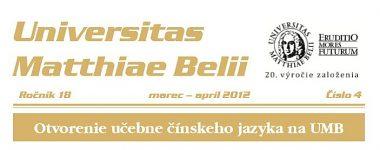 Spravodajca UMB 4/2012 (marec-apríl)
